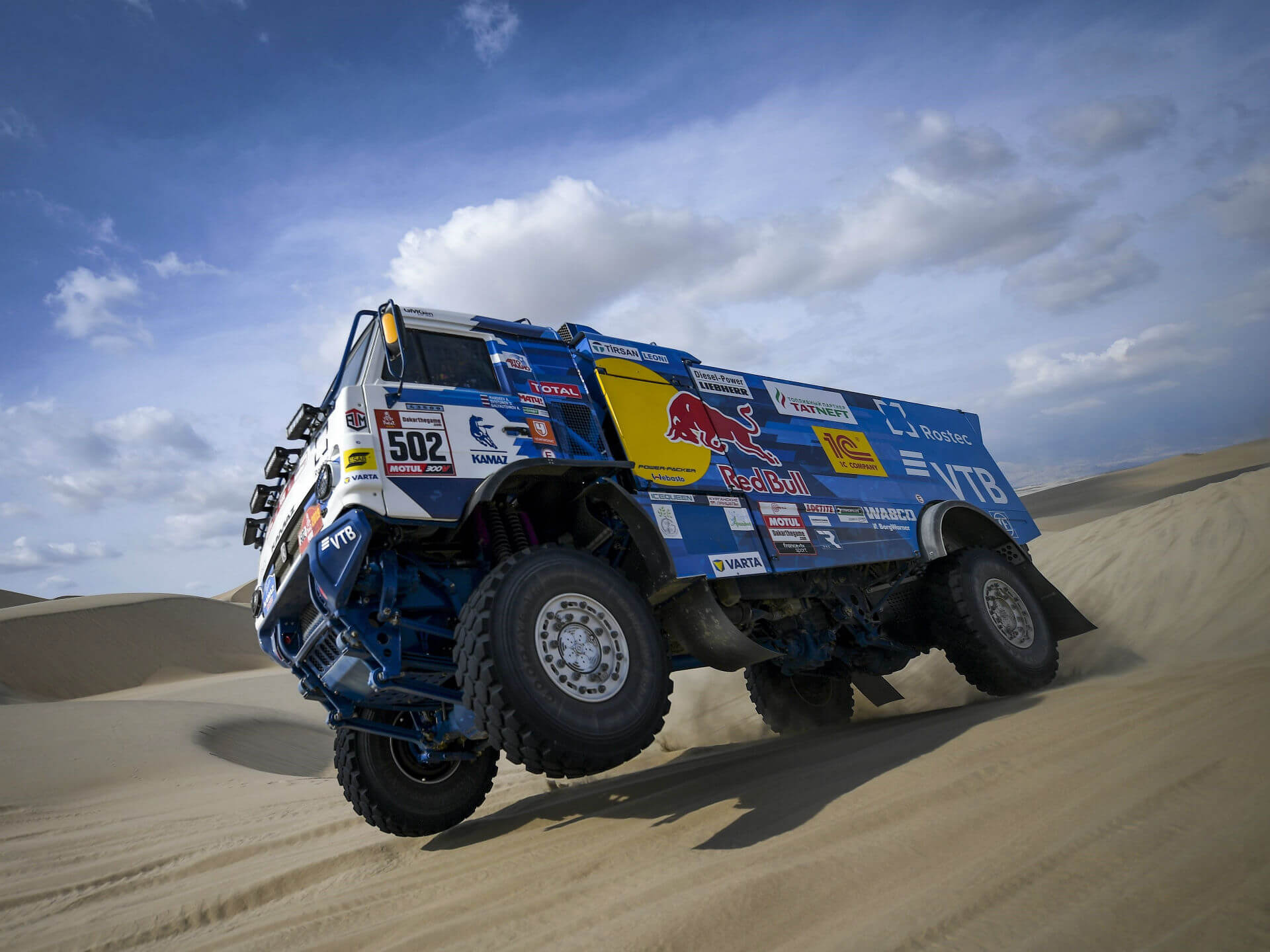 KAMAZ Dakar truck in Peru Rally